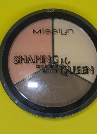 Misslyn shaping queen contouring palette палитра корректоров формы лица2 фото