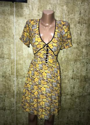 Винтажное  платье в цветочный принт