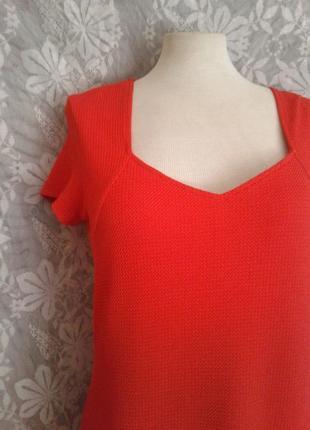 Элегантное красное платье, l-xl.3 фото