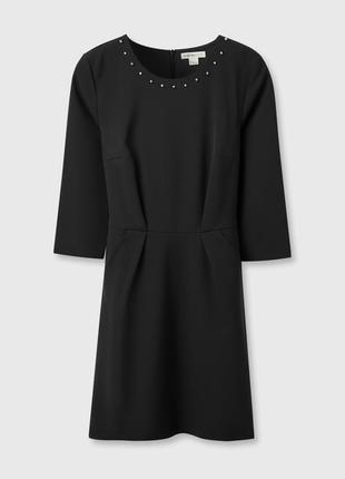 Черное платье c поясом3 фото