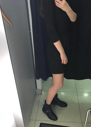 Черное платье c поясом5 фото