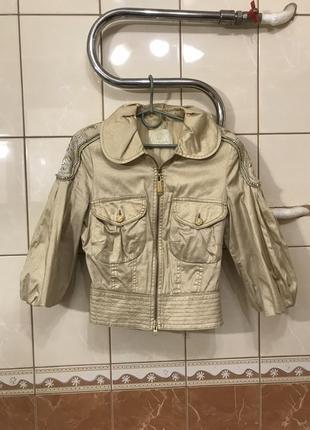 Куртка с напылением куртка  рукав 3/4 куртка  gizia кожаная куртка