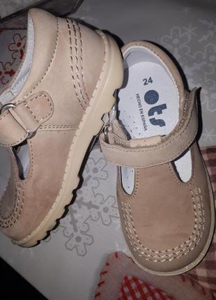 Распродажа-30%!!! чудесные кожаные туфельки ots(испания)