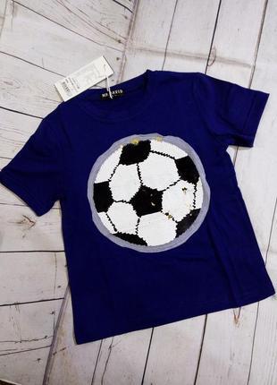 Футболки с пайетками-перевертышами 6-12 лет.
