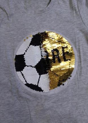 Футболки с пайетками-перевертышами 6-12 лет.6 фото