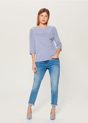 Весенние джинсы бойфренды голубые стрейчевые