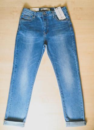 Весенние джинсы  голубые стрейчевые3 фото