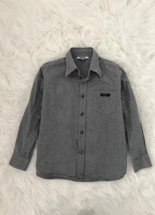 Стильная рубашка moschino. 7-9 лет. италия.
