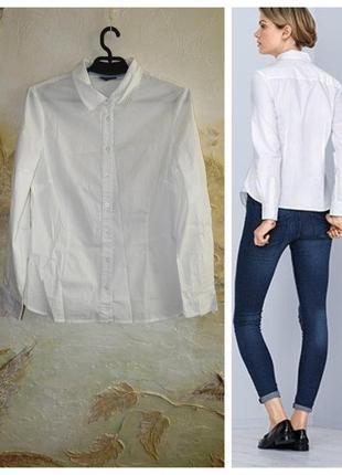 Стильная белая рубашка, блузка tcm tchibo германия