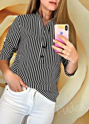 Блузка в полоску. стильная и удобная.