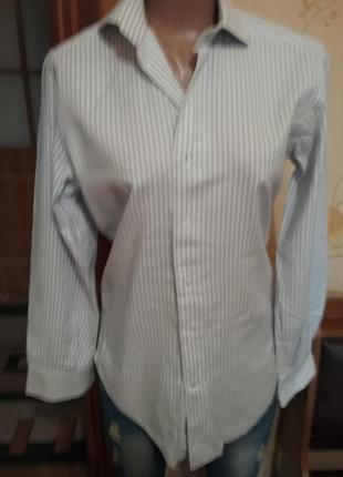 Рубашка  фирменная  в полоску