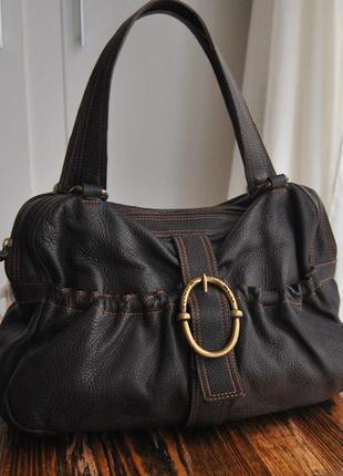Кожаная сумка tosca blu / шкіряна сумка