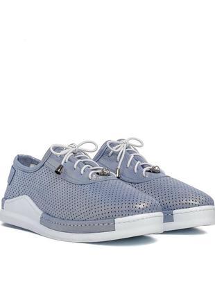 718тз женские туфли aquamarin,кожаные,на шнурках,на толстой подошве,на низком ходу