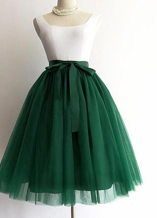 Пышная юбка из фатина миди 15 расцветок