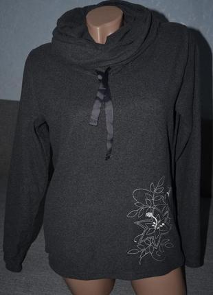 """Тепленький мягенький  флисовый свитерочек с интересным  воротником  - """" труба """""""
