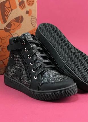 Кеды (eleven shoes) блестящие со звездами