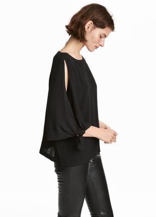 H&m блузка с завязками на рукавах , 36