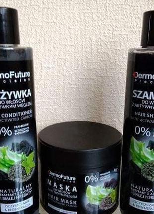 Шампунь для волосся з активованим вугіллям та алое detmofuture, unice