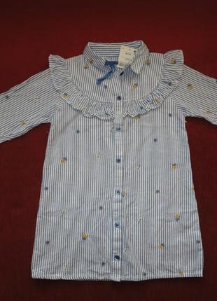 Нарядное котоновое платье с вышивкой next 3-4 года