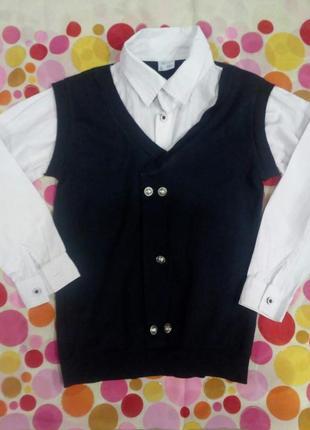 Школьная рубашка обманка на мальчика
