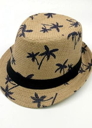 13-180 стильная детская летняя шляпа панамка панама