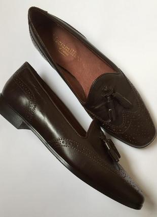 Новые кожаные итальянские туфли лоферы macsamullion of oxford с кисточками