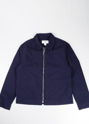 Легкая синяя куртка - харрингтон  h&m