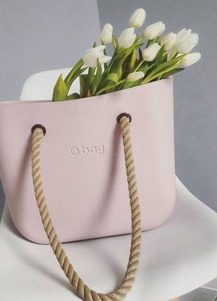 Новый корпус сумочки obag classic mini (обег классик мини) оригинал. цвет - розовый дым.