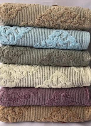 Набор банных  полотенец .льон-махра.