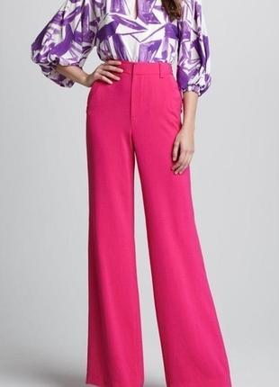 Актуальные яркие широкие брюки палаццо на высокий рост от 180см.. №336