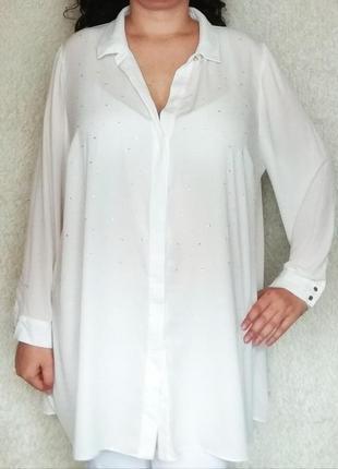 f86057ea7ac Женские рубашки со стразами 2019 - купить недорого вещи в интернет ...