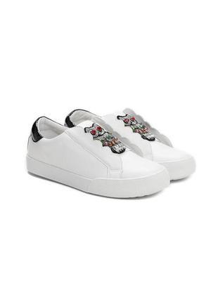 Новые шикарные женские белые кроссовки с совой3 фото