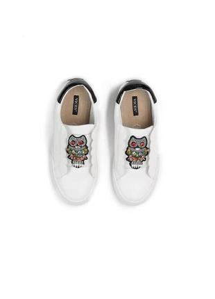 Новые шикарные женские белые кроссовки с совой4 фото