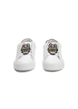 Новые шикарные женские белые кроссовки с совой6 фото