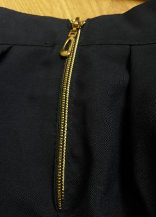 Темно-синя класична легенька  юбка на замочку.3 фото