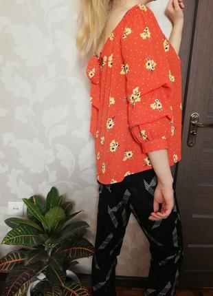 Брендовая нежная блуза с завязками и на резинке primark2 фото