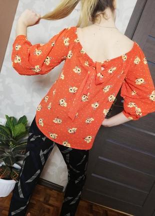 Брендовая нежная блуза с завязками и на резинке primark1 фото