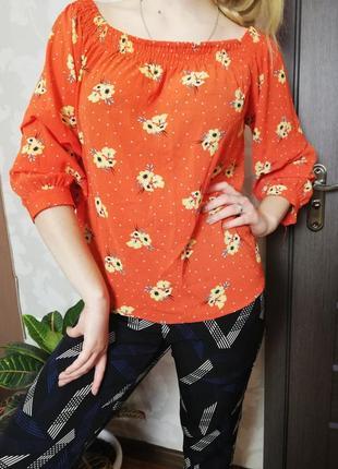 Брендовая нежная блуза с завязками и на резинке primark4 фото