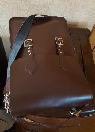 Кожаная сумка ручной работы3 фото