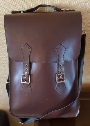 Кожаная сумка ручной работы2 фото