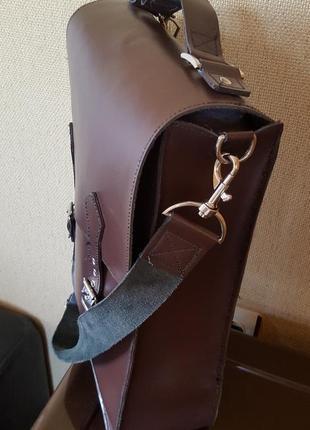 Кожаная сумка ручной работы4 фото