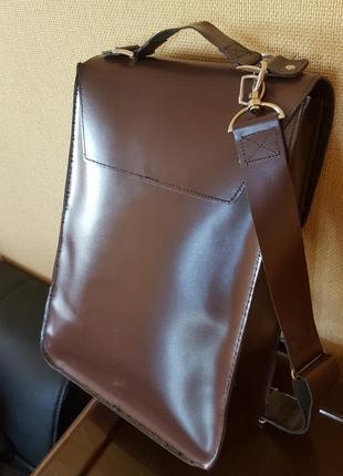 Кожаная сумка ручной работы5 фото