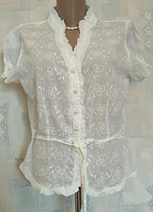 Летняя блузочка из вышитого батиста