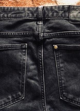 Джинсы темно-серые slim denim/ h & m4 фото