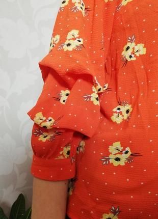 Брендовая нежная блуза с завязками и на резинке primark8 фото