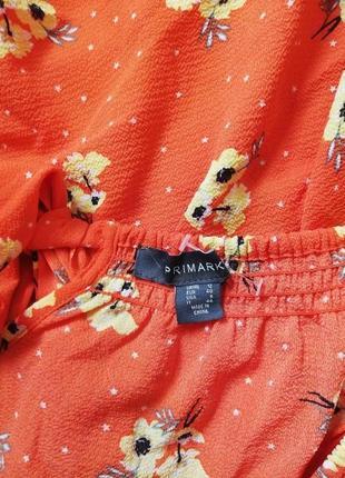 Брендовая нежная блуза с завязками и на резинке primark9 фото