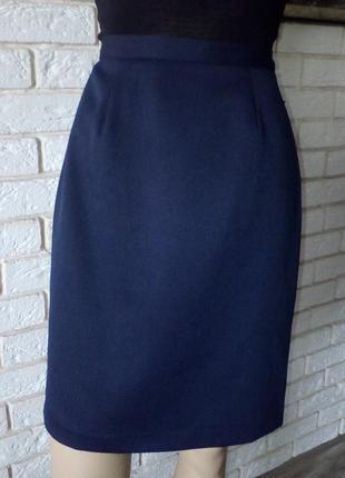 Строгая юбка карандаш  на подкладке с высокой посадкой