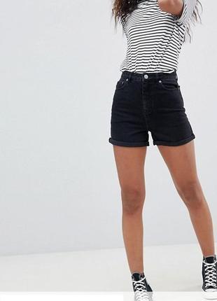 Шорты джинсовые черные f&f
