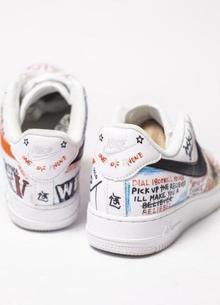 Стильные кроссовки nike в белом цвете с цветными надписями ////😍2 фото
