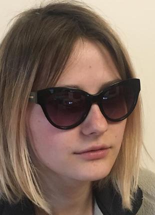 Стильные cat очки max&co. (265/s черные)2 фото